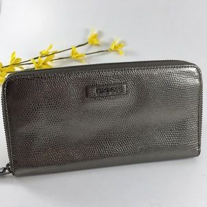 Like new! DKNY Zip Around Snakeprint Wallet